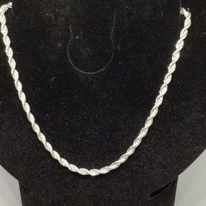 925 Sterling Silver New Rope Chain 5mm
